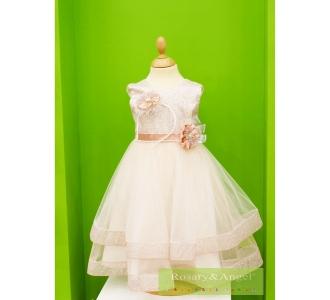 bc4638d3ee Lányka koszorúslány ruha 2910 · Fehér ...